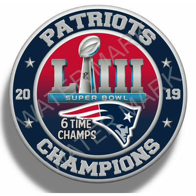 New England Patriots Super Bowl 53 2019 Champions 5'' Sticker Decal NFL Football