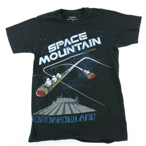Disney Parks Mickey Mouse Space Mountain Script T-Shirt  Size Large  NEW NWOT