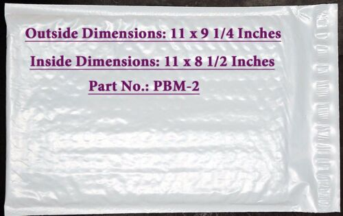 ID Poly Bubble Cushioned Envelope Mailers 8 1//2 x 11 Inches 21 PBM-2