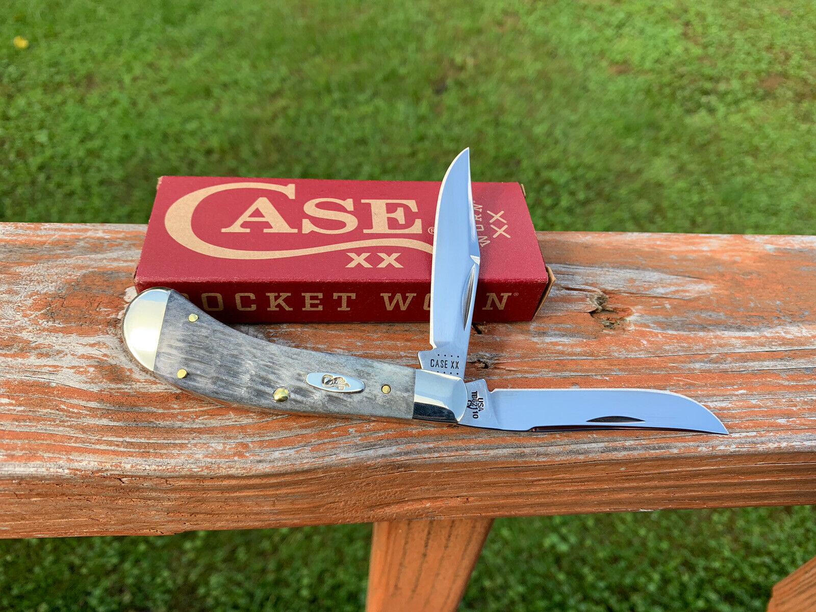 CASE XX SADDLEHORN KNIFE TONY BOSE GRAY BONE w/BOX UNUSED 2021
