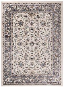 traditional klassischer orientteppich perser vintage teppiche in wei beige ebay. Black Bedroom Furniture Sets. Home Design Ideas