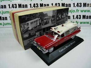 AMB2U-1-43-IXO-atlas-AMBULANCE-COLLECTION-CADILLAC-Miller-Meteor-59-ghostbuster