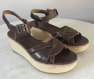 Details about Women's Timberland Earthkeepers Whittier Jute Wrapped Wedge Sandal 7.5