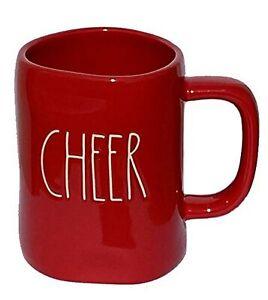 Rae-Dunn-Red-Cheer-Christmas-Mug-with-white-writing-Large-Letter