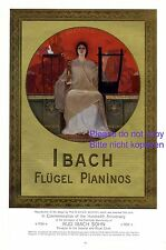 Ibach Klavier & Flügel XL Reklame 1908 in Gold Harmonie Werbung Design by Gysis
