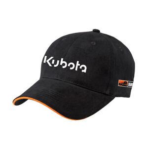 Kubota Branded Black Implements Cotton Cap with Adjustable Strap