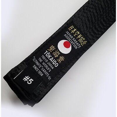 Tokaido Karate Black Belt Martial Arts Satin JKA