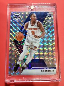 2019-20-Mosaic-Basketball-RJ-BARRETT-Silver-Prizm-Rc-New-York-Knicks-Rookie