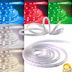 6 98 m 5m led stripe 230v dimmbar ip44 flexibele smd licht streifen flexibel ebay. Black Bedroom Furniture Sets. Home Design Ideas