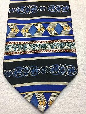 Barini Cravatta Uomo Nero Blu Oro Rosso E Grigio 3.75 X 59
