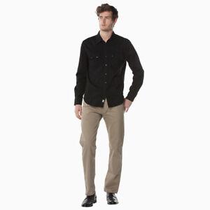 Levi-039-s-Classic-Casual-Denim-Black-Sawtooth-Western-Shirt-Color-Black-658190098