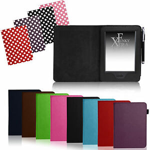FOR-AMAZON-KINDLE-TOUCH-PU-LEATHER-FLIP-BOOK-STYLE-CASE-COVER-WALLET