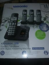 Panasonic Cordless Phone with Answering Machine 5 Handsets KX-TG3645B