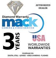 Mack 3yr Diamond Warranty For Digital Still,video, Lens, Flash Under $1000 1307