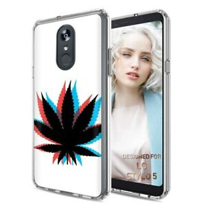 Protective Clear Thin Gel Phone Case Cover For Lg Stylo 5 Marijuana 3d Print Ebay