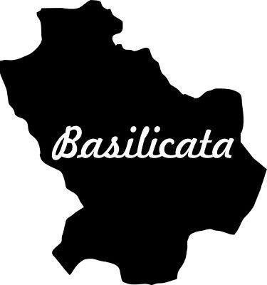 taglio contorno nero ca. 11 x 7 cm Sticker  SICILIA  isola italiana 2x adesivi per auto