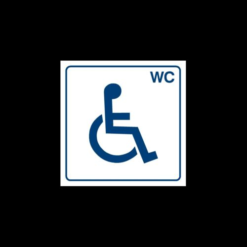 Toilet Sign Female Baby Sticker Male 150mm x 150mm Disabled
