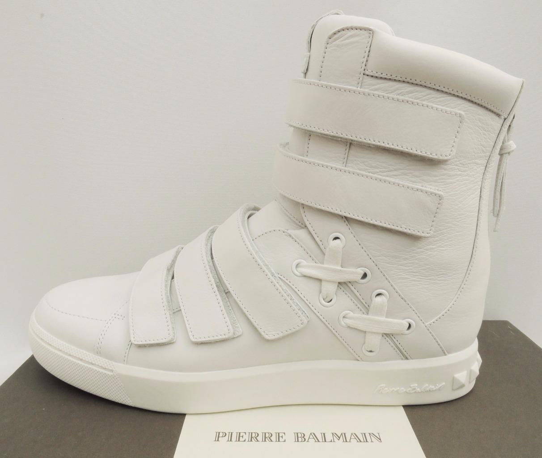 Pierre Balmain HI Top Trainers zapatillas botas UK8 & 10  42 & 44  US9 & 11 New