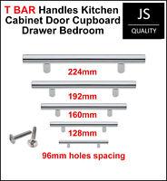 T BAR Chrome Handles Kitchen Cabinet Door Cupboard Drawer Bedroom