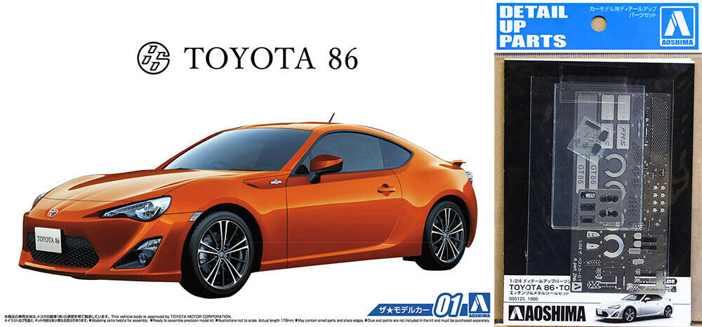 2012 Spielzeugota 86 ZN6 GT86 + Detail Up Parts Set 1 24 Modell Kit Bausatz Aoshima