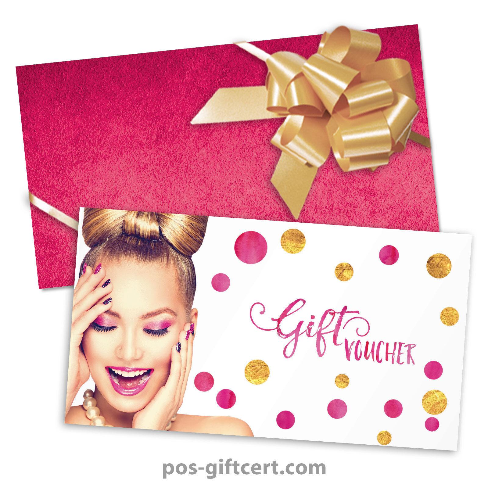 Gift vouchers  envelopes  pull bows for beauty salons, hairdressers KS271GB | Üppiges Design  | Lebendige Form