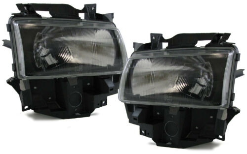 BLACK SMOKE finish H4 HEADLIGHTS FOR VW T4 Bus Caravelle Multivan 96-03