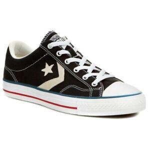 Details about Converse Unisex Star Player OX Shoes Black/Milk 144145F d
