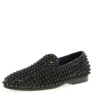 Men's Shoes Competent New Men's J75 By Jump Luxor Black Spike Studded Slip Ons