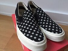 $80 Converse 67 Deck Star 'May Flowers' Black US 12 Slip On CVO 1970 70s japan