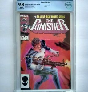 PUNISHER # 5 (1986) CBCS 9.8  ~ White Pages ~ LIMITED SERIES ~ just like CGC