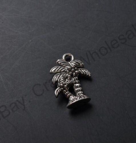 10pcs Tibetan Silver des cocotiers Charms Pendentifs 18X14MM CA778