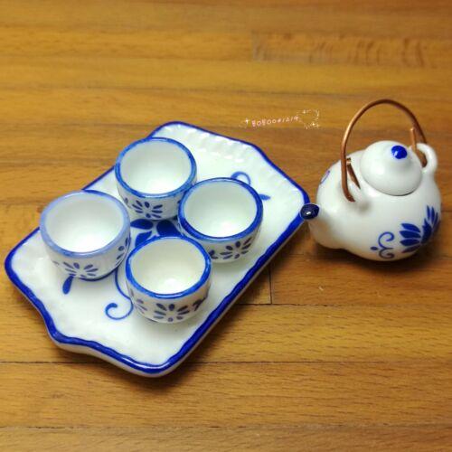 Dollhouse Miniature 1:12 Toy Dining room Kitchen 7 pcs Porcelaine Tea set L-119