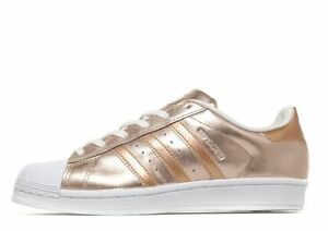 Image is loading Adidas-Superstar-Rose-Gold-White-Sizes-UK-3-