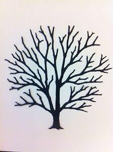 Dreamweaver Large Bare Tree Die Cuts Black New