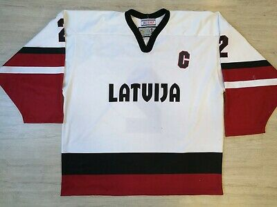 Tackla Iihf U20 Latvia Latvija Game Worn Ice Hockey Jersey Shirt Xxl #2 C Patch An Indispensable Sovereign Remedy For Home Sports Mem, Cards & Fan Shop Fan Apparel & Souvenirs