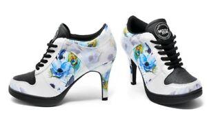 White Blue cómodos zapatillas Missy de Tacones deporte Rockz Look Light Blossom 5 en altos 8 Blue 15PTqx