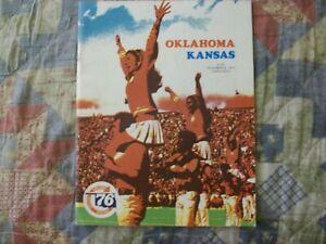 1975 KANSAS OKLAHOMA PROGRAM College Football SOONERS ...