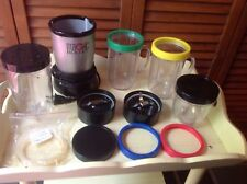 MAGIC BULLET with LOTS of EXTRAS GENTLY USED BLENDER JUICER WORKS PROTEIN SHAKES