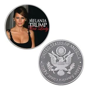Birthday-Souvenir-Gifts-US-First-Lady-Melania-Trump-Commemorative-Silver-Coin
