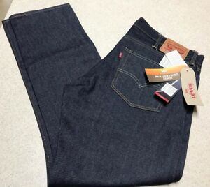 54feed7b31a LEVI'S 511 Raw Unwashed Denim BLUE JEANS SLIM FIT $130 Men's Size ...