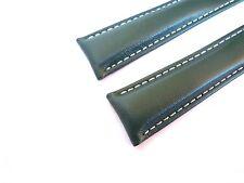 KALBSLEDERBAND grün 20/18 (110/90) speziell passend für Breitling-Faltschließen