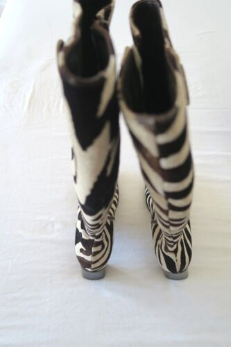 HOBBS Animal print suede long leather boots, 36 3, BNIB Excellent condition