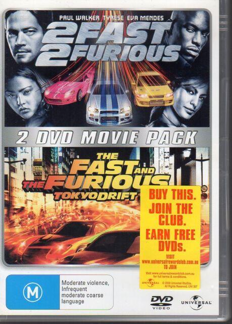 2 FAST 2 FURIOUS / THE FAST & THE FURIOUS TOKYO DRIFT - 2 DVD SET R4 - LIKE NEW