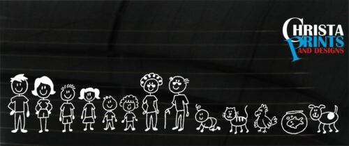 STICK FAMILY/PERSON CAR WINDOW STICKER DECAL BUILD YOUR FAMILY ANY COLOUR FAM 2