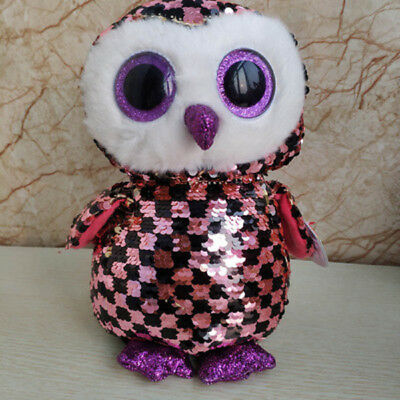 """Ty Beanie Boos 6/"""" Sparkle The Special Owl Plush Stuffed Toy New"""
