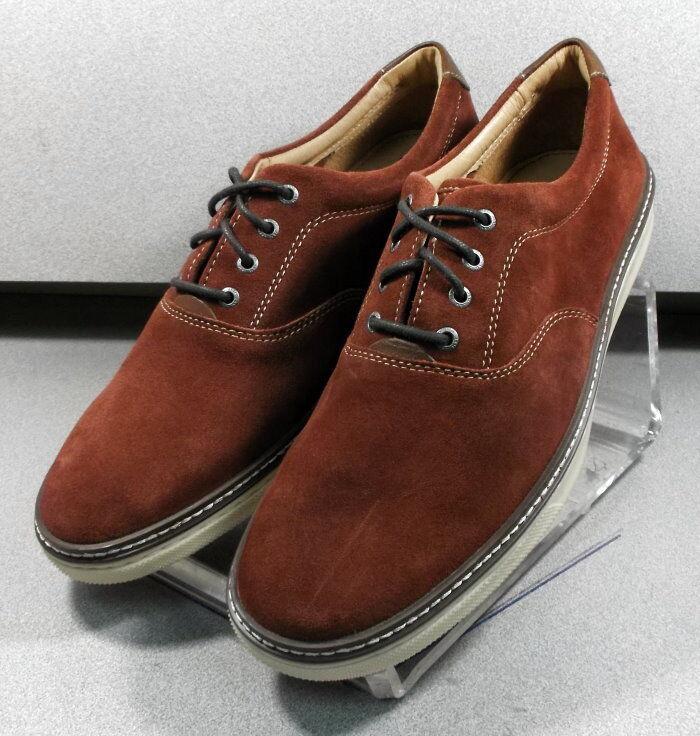 5910714 MS38 para hombres hombres hombres zapatos talla 10 M moho Gamuza Marrón Con Cordones Johnston & Murphy 45fc46