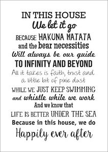 In This House We Do Inspired Quotes Poster Art Print Ebay