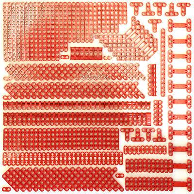Amichevole Lego Technic Rosso Vivo Non Chiodato Travi Chiodati Assottiglia Mattoni - 294 Parti-nuovo-mostra Il Titolo Originale