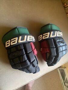 ARIZONA COYOTES Martin Hanzal game-worn Bauer Nexus 1000 throwback gloves 2016