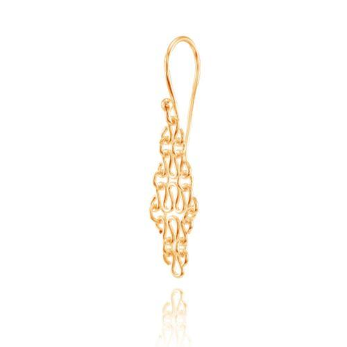 Argent Sterling 925 élégant dangle or Rose Double Cercles Boucles d/'oreille fashion